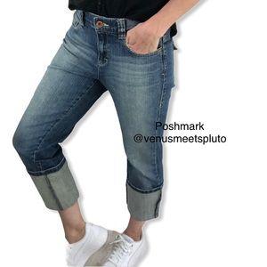 DKNY Cuff Jeans Sz 8 Crop Straight Style KCMU5211
